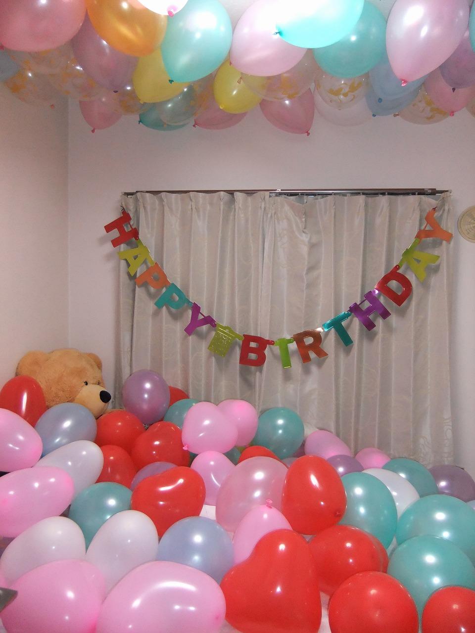 まるで夢のよう!部屋いっぱいのバルーン。